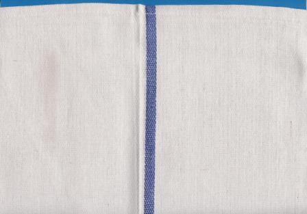 Kitchen Towels Herringbone   White/ Blue Stripe