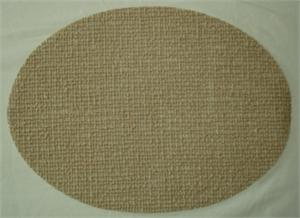 Placemats Rubber Mesh Coffee Oval Price Per Dozen