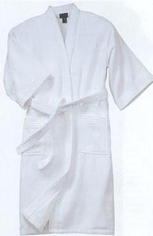 Kimono Terry Bathrobe White Large Image
