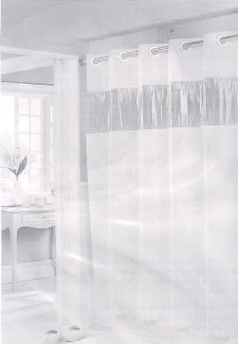 Shower Curtain HOOKLESS Vinyl White