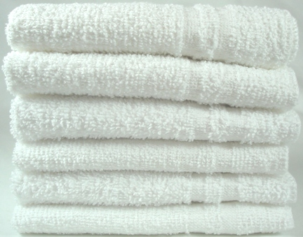 Wholesale Washcloths in Bulk White Economy 100 dozens bale