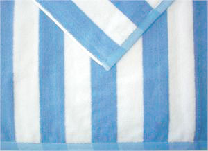 Wholesale Cabana Stripe Beach Towels White Blue Stripe Luxury