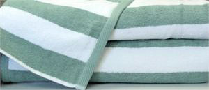 Wholesale Beach Towels Beach Towels Cabana Green White Stripes
