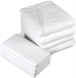 Jersey Knit Fitted Sheets WHITE